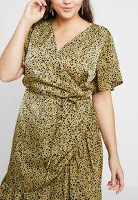 Cotton On Curve - WRAP DRESS - Day dress - light olive/black - 4