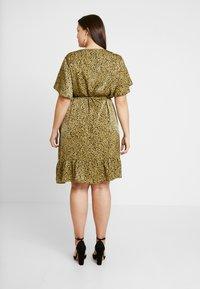Cotton On Curve - WRAP DRESS - Day dress - light olive/black - 2