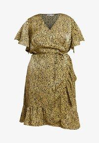 Cotton On Curve - WRAP DRESS - Day dress - light olive/black - 3