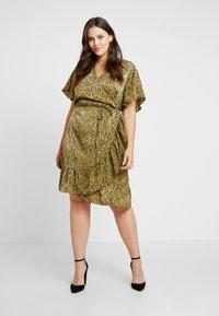 Cotton On Curve - WRAP DRESS - Day dress - light olive/black - 1