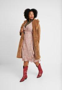 Cotton On Curve - WILLOW WRAP MIDI DRESS - Day dress - brown - 2