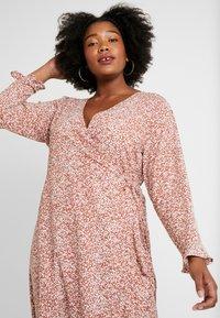 Cotton On Curve - WILLOW WRAP MIDI DRESS - Day dress - brown - 4