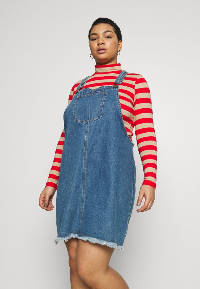 CLASSIC PINAFORE - Denim dress - bronte blue