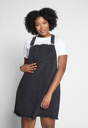 CLASSIC PINAFORE - Denim dress - washed black