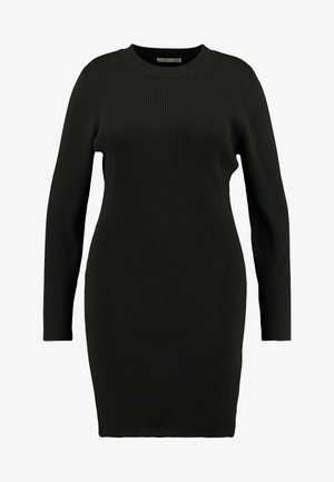 TAHNEE TRUE MINI DRESS - Gebreide jurk - black