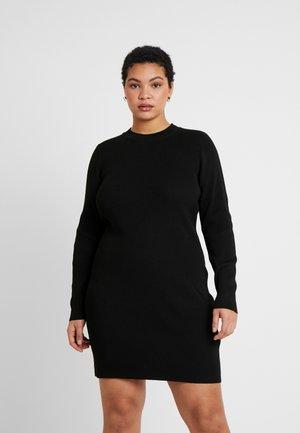 TAHNEE TRUE MINI DRESS - Strikkjoler - black