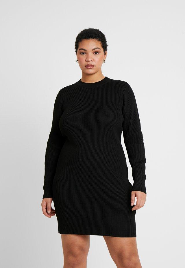 TAHNEE TRUE MINI DRESS - Stickad klänning - black