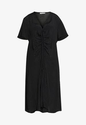 CURVE MARISSA GATHERED FRONT MIDI DRESS - Denní šaty - black