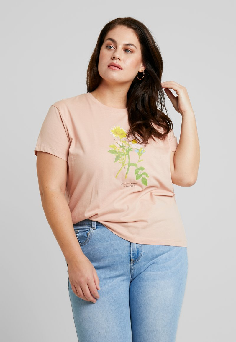 Cotton On Curve - EMBROIDERY TEE - T-shirts med print - rose