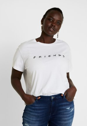 FRIENDS GRAPHIC TEE - T-shirt con stampa - white