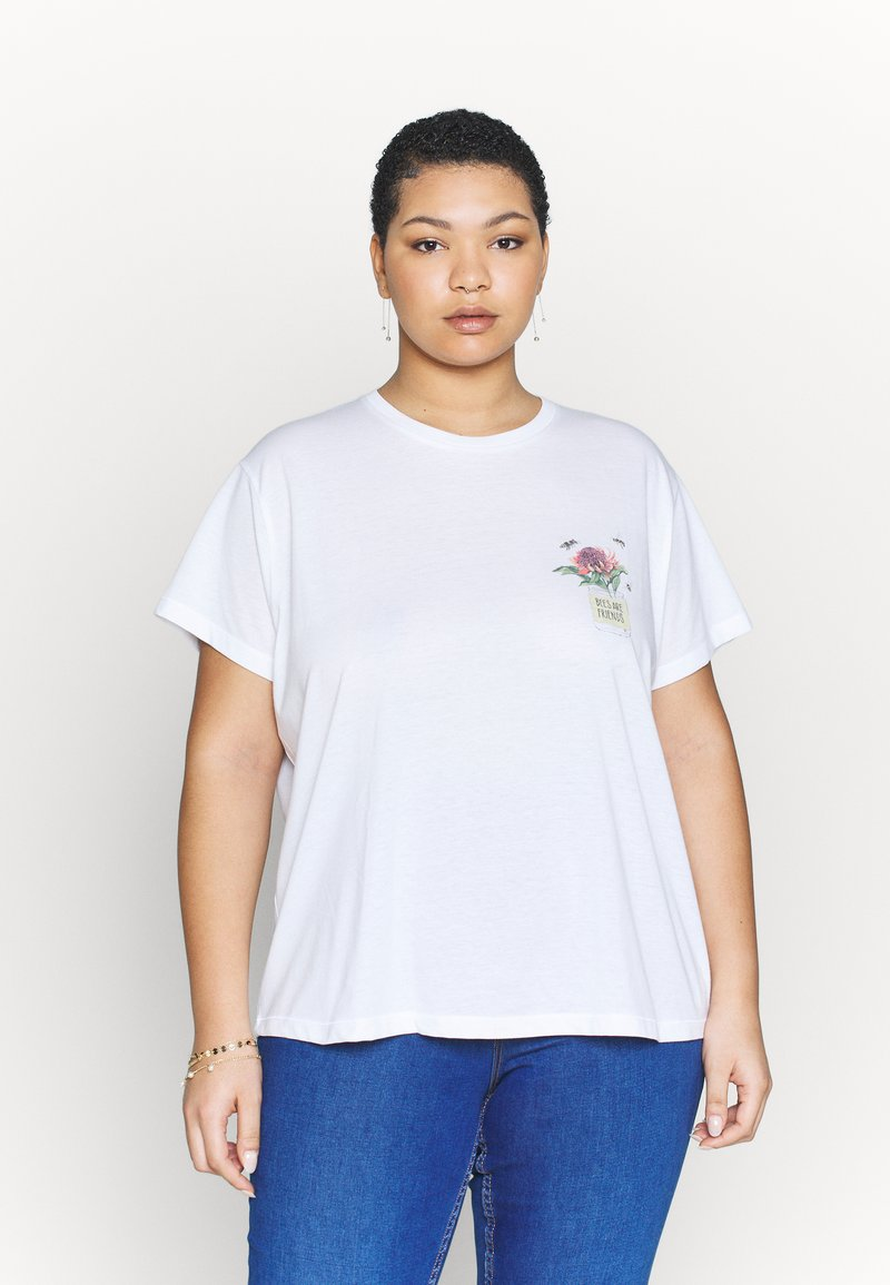 Cotton On Curve - FRIENDS GRAPHIC TEE - Triko spotiskem - white