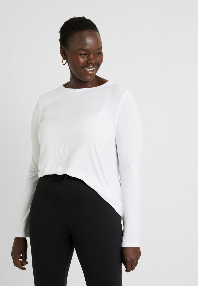 Cotton On Curve - GIRLFRIEND LONG SLEEVE - Langærmede T-shirts - white