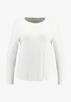 GIRLFRIEND LONG SLEEVE - Topper langermet - white