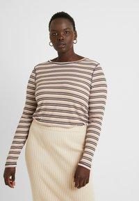 Cotton On Curve - GIRLFRIEND LONG SLEEVE - Long sleeved top - nicola multi/camel - 0