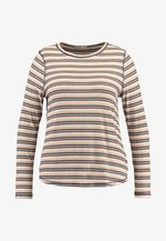 GIRLFRIEND LONG SLEEVE - Camiseta de manga larga - nicola multi/camel