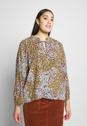 CURVE MOCK NECK FRILL SLEEVE - Pusero - multi-coloured