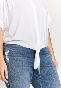 Cotton On Curve - CURVE EPIC TIE FRONT SHIRT - Blouse - white - 5