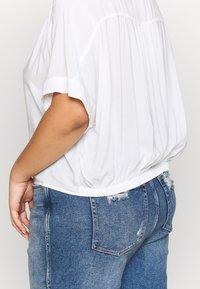 Cotton On Curve - CURVE EPIC TIE FRONT SHIRT - Blouse - white - 3