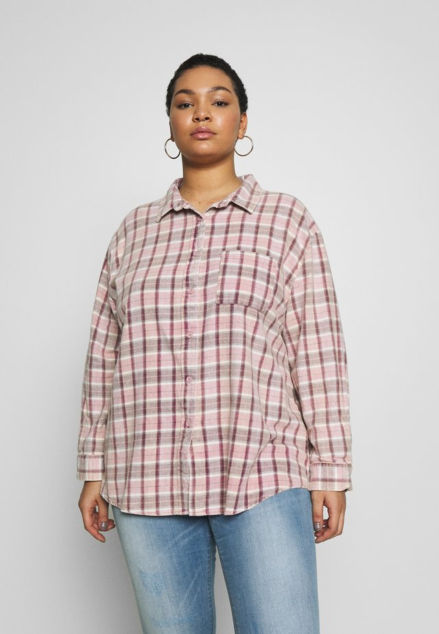 RELAXED WASHED - Overhemdblouse - blackberry wine