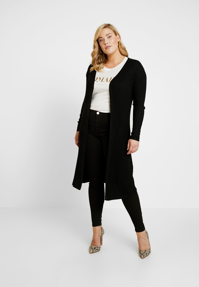 Cotton On Curve - QUINNIE LONGLINE CARDI - Strickjacke - black