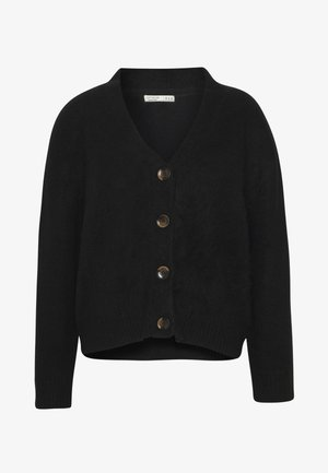 KATE BRUSHED CARDI - Gilet - black
