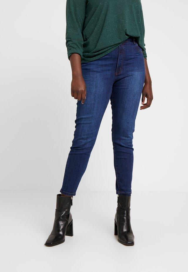ADRIANA HIGH - Skinny džíny - deep blue