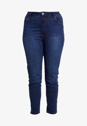 PREMIUM HIGH RISE - Jeans slim fit - deep blue