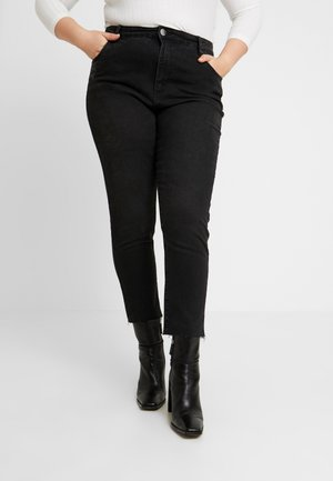 PREMIUM RELAXED MOM JEAN - Jeans slim fit - black