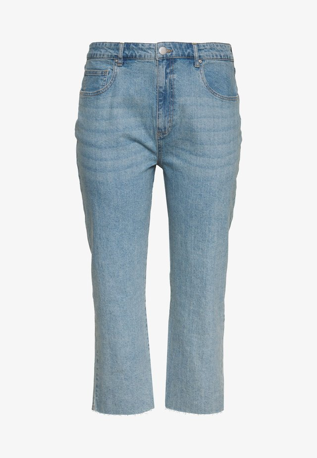 STRETCH HIGH RISE - Straight leg jeans - boston blue