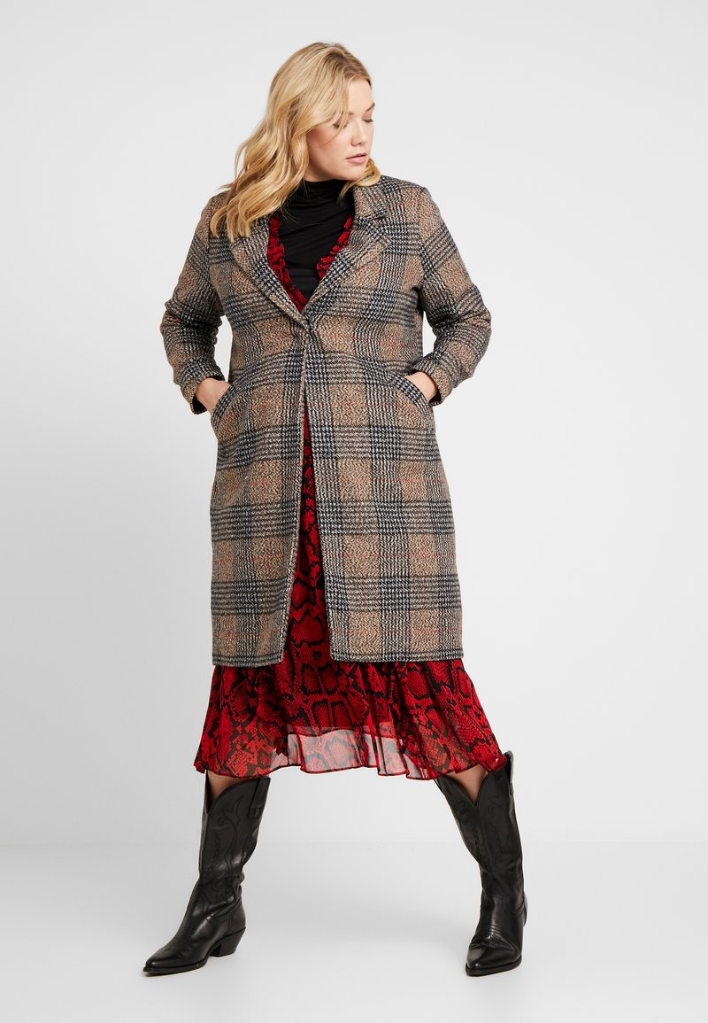 Cotton On Curve - MID LENGTH COAT - Zimní kabát - brown