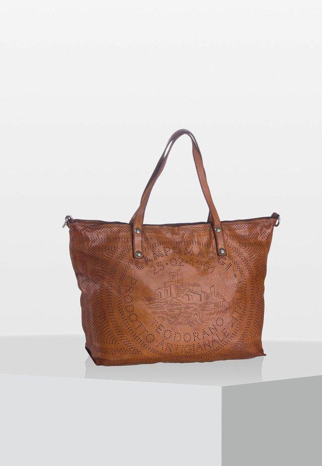 CALA ROSSA - Shopping Bag - cognac