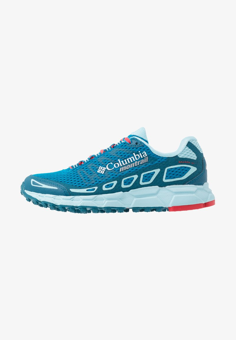 Columbia - BAJADA III - Trail running shoes - deep ocean/red camellia