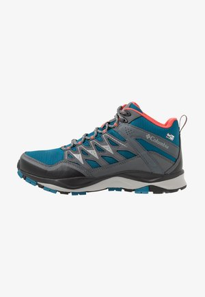 WAYFINDER MID OUTDRY - Hiking shoes - lagoon/coral