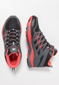 Columbia - WAYFINDER MID OUTDRY - Scarpa da hiking - black/red coral - 1
