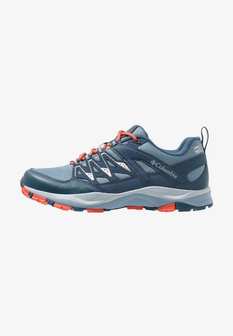 Columbia - WAYFINDER OUTDRY - Hiking shoes - dark mirage/red quartz