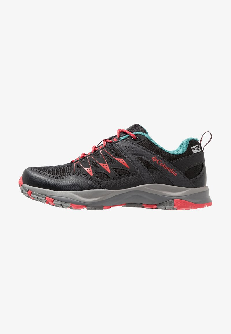 Columbia - WAYFINDER OUTDRY - Hiking shoes - black/red coral