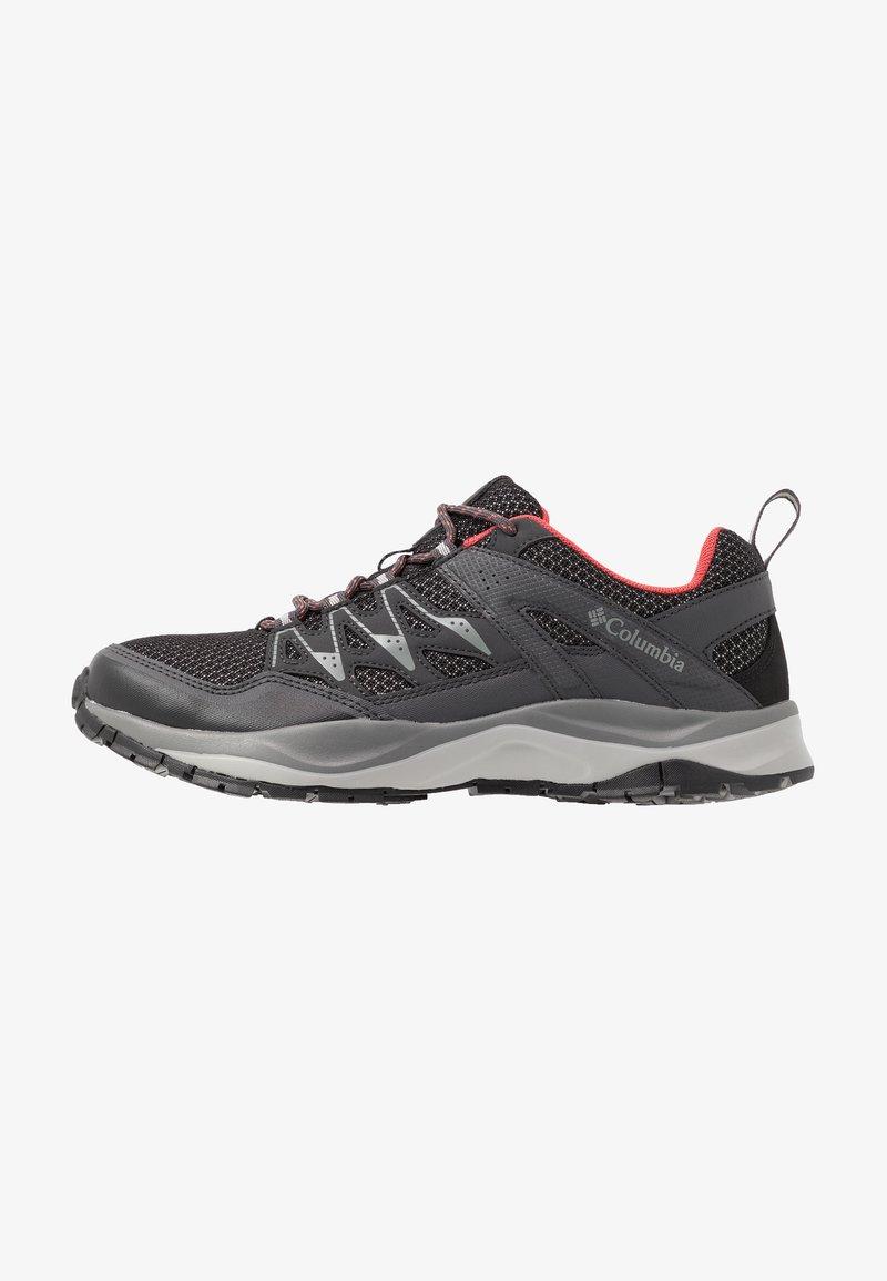 Columbia - WAYFINDER - Hiking shoes - black/coral