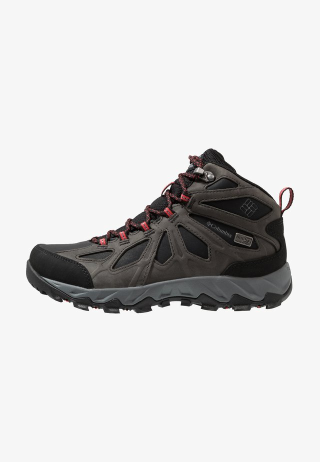 LINCOLN PASS - Hiking shoes - black/red camellia