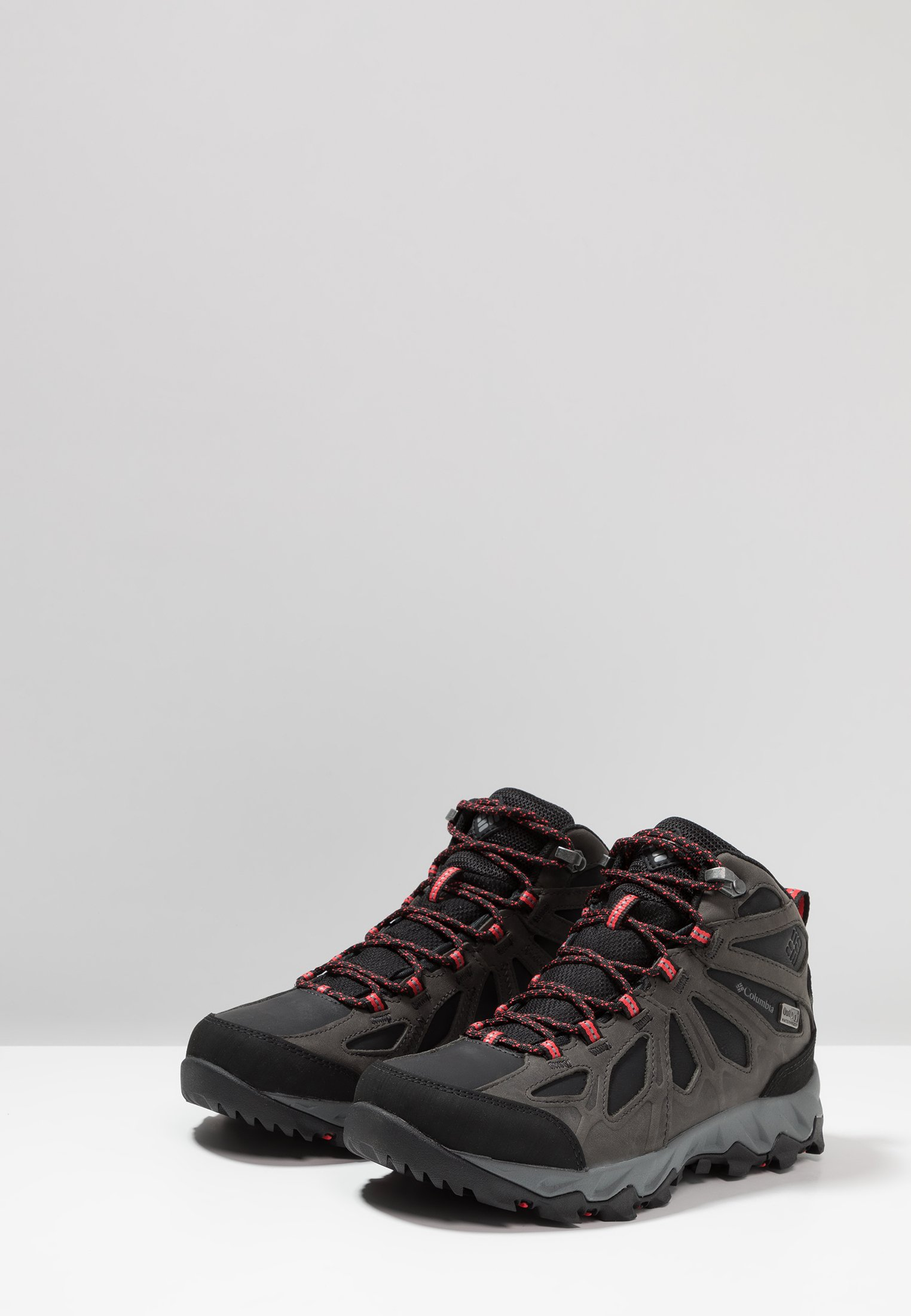 Columbia LINCOLN PASS - Hikingschuh black/red camellia