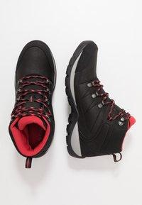 Columbia - FIRE VENTURE MID II WP - Hiking shoes - black/daredevil - 1