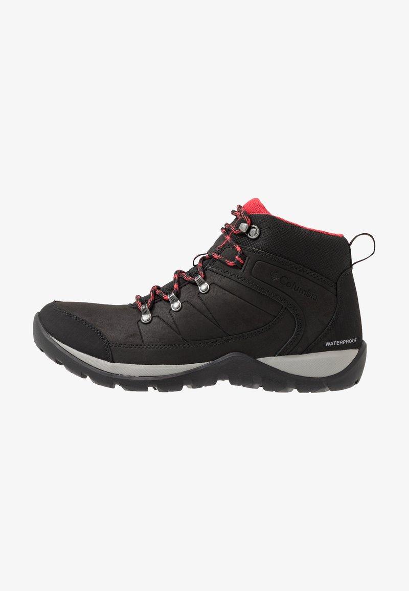 Columbia - FIRE VENTURE MID II WP - Hiking shoes - black/daredevil