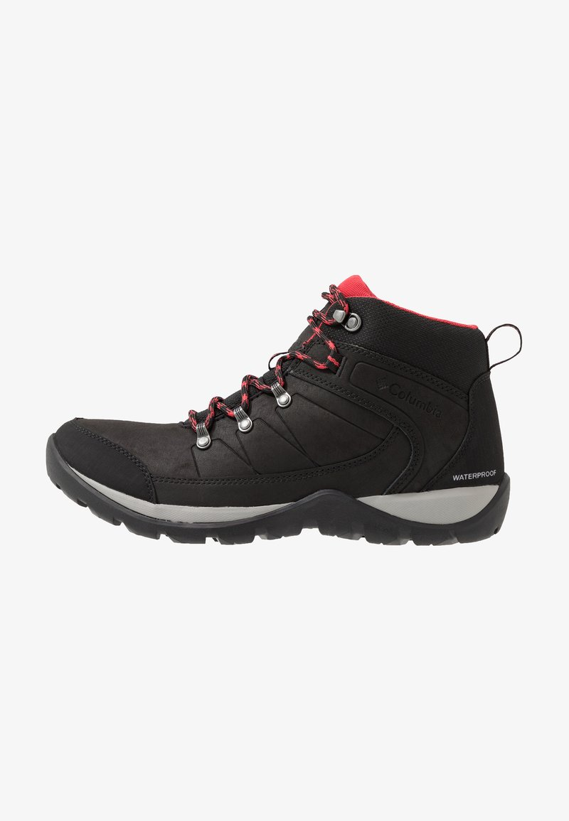 Columbia - FIRE VENTURE MID II WP - Zapatillas de senderismo - black/daredevil