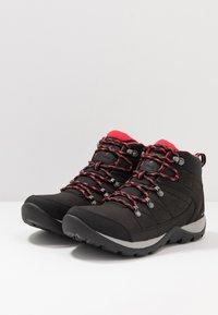 Columbia - FIRE VENTURE MID II WP - Hiking shoes - black/daredevil - 2