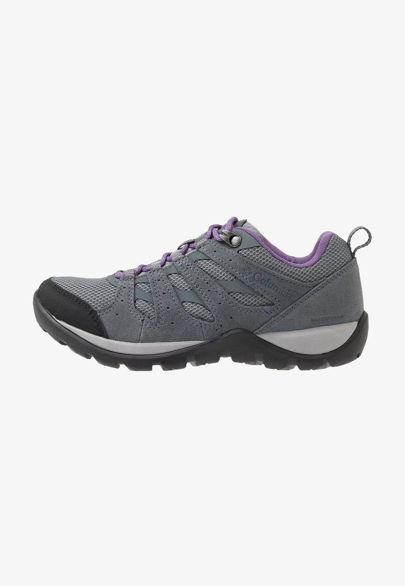 Columbia - REDMOND V2 WP - Hiking shoes - ti grey steel/plum purple