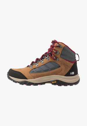 100MW MID OUTDRY - Hiking shoes - graphite/beet