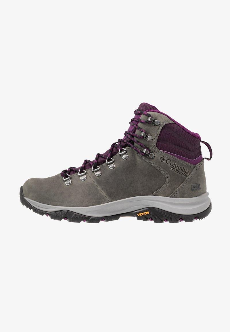 Columbia - 100MW TITANIUM OUTDRY - Hiking shoes - ti grey steel/black cherry