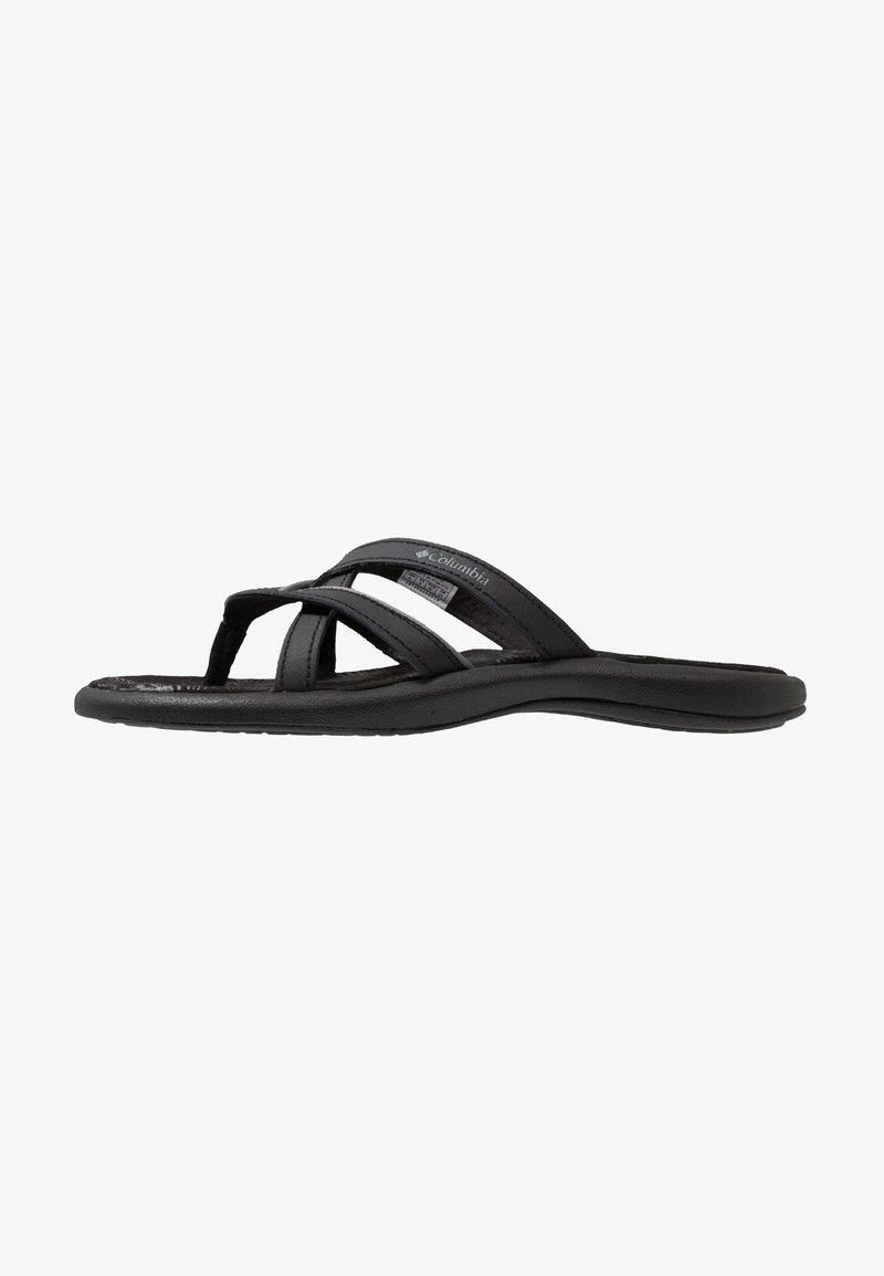 Columbia - KAMBI II - Walking sandals - black/grey steel