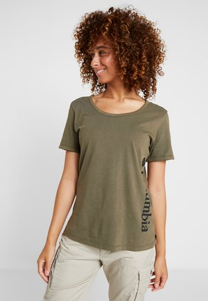 CSC™ PIGMENT TEE - T-shirt con stampa - olive green