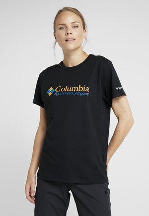 NORTH CASCADES TEE - Print T-shirt - black/raw honey/fathom blue