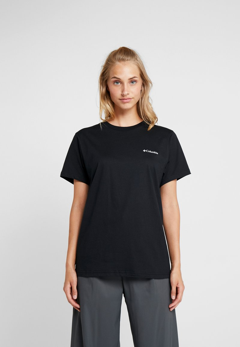 Columbia - NORTH CASCADES TEE - T-Shirt print - black/raw honey/fathom blue box